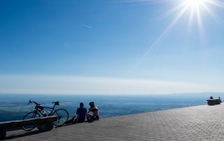 Blick vom Blauen zu den Alpen