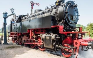 Historische Dampflokomotive der Sauschwänzlebahn